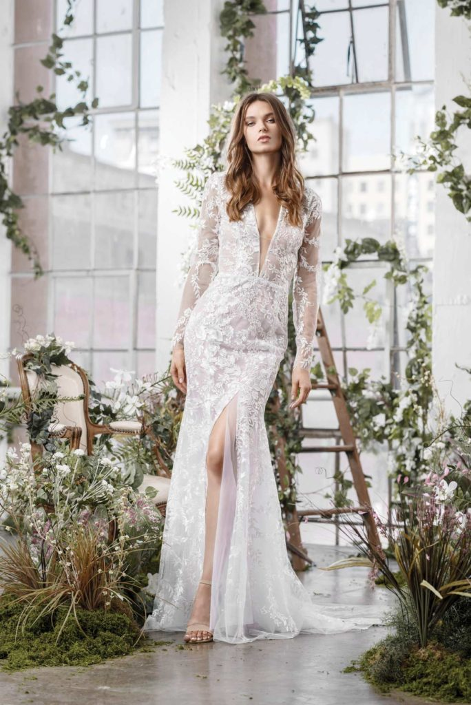 b402e4df6b Trends for 2019: Colors such as soft blush, lavender and light blue in dip- dyed silks or custom embroideries; the naked dress (or the illusion dress);  and ...